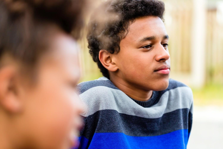Bild zeigt: Zwillinge afroamerikanischer Abstammung