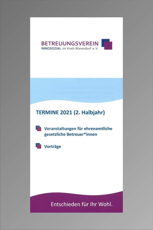 Bild zeigt: Flyer vom Fachdienstangebot mit Link zur PDF