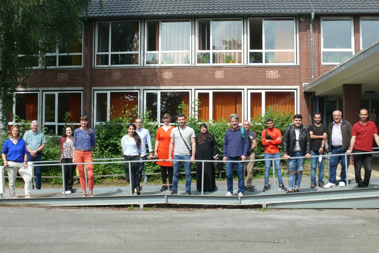 Bild zeigt: Teilnehmer*innen am Projekt Wie funktioniert Deutschland im Juli 2021