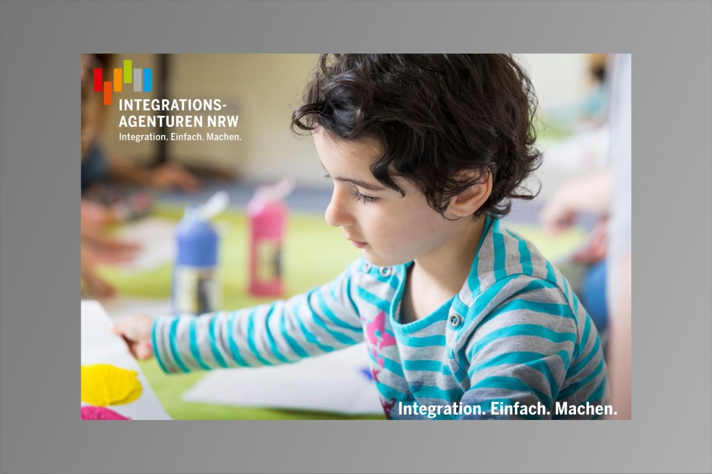 Bild zeigt: Titelseite Flyer Integrationsagenturen NRW