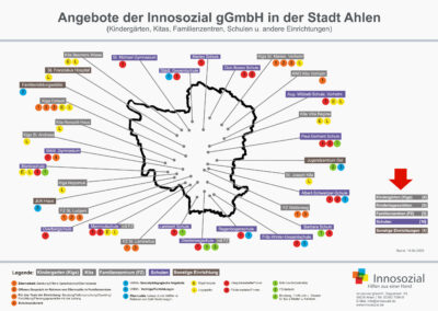 Bild zeigt: Grafische Darstellung aller Angebote in der Stadt Ahlen — Übersichtskarte